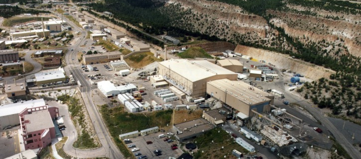 FILE - This undated file aerial view shows the Los Alamos National laboratory in Los Alamos, N.M.  (AP Photo/Albuquerque Journal)